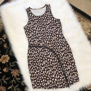 Rachel Roy Brown & Cream Sleeveless Dress